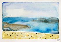 Santorini Island - drawing XII by Iva Ivanova