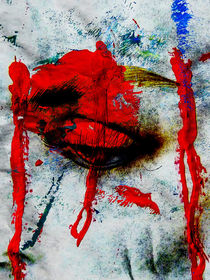 Red tears by Gabi Hampe