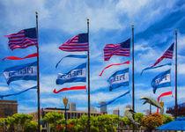 Flags At Pier 39 von John Bailey