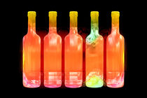 Glowing bottles by Leopold Brix