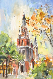 A Church In Our Street In Budapest von Miki de Goodaboom