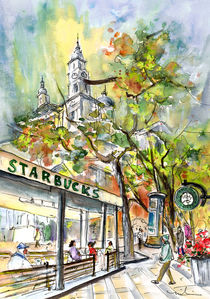 Starbucks Cafe In Budapest von Miki de Goodaboom