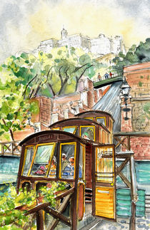 The Funicular From Budapest by Miki de Goodaboom