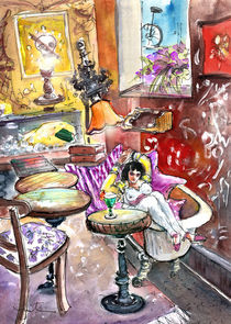 The Goya Girl In A Ruin Bar In Budapest von Miki de Goodaboom