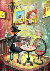 The Toulouse-Lautrec Girl In A Ruin Bar In Budapest von Miki de Goodaboom