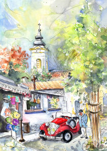 'A Beautiful Car In Szentendre' von Miki de Goodaboom
