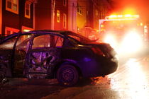 Car on Fire by Sharleen  Simmons