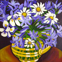 Agapanthus still life by marlene holdsworth