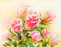 Roses, oil painting on canvas von valenty