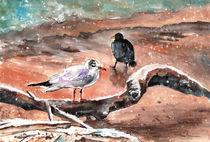 Birds On The Constance Lake in Winter von Miki de Goodaboom