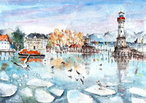 Lindau Harbour In Winter by Miki de Goodaboom