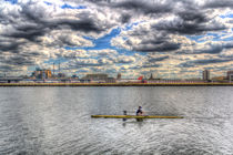 Sculling at London City Airport by David Pyatt