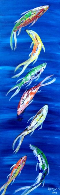 7 Fishes series_1 by Myungja Anna Koh