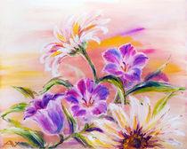 Wildflowers, oil painting on canvas von valenty