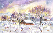 Geese In Germany In Winter von Miki de Goodaboom