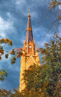 The Steeple Of The Basilica Of The Sacred Heart von John Bailey
