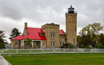 Lighthouse At Mackinaw Point von John Bailey