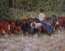 Living The Dream Moving The Herd by Susan Bergstrom