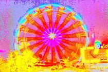 Riesenrad expressionistisch von Martin Müller