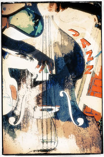 Double-bass Jazz Poster von cinema4design