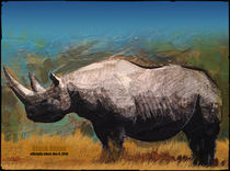 Black Rhino (Extinction Series) von Mark Wagner