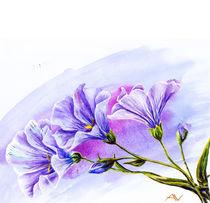 Wildflowers. Watercolor painting. von valenty