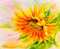 Sunflower, oil painting on canvas von valenty