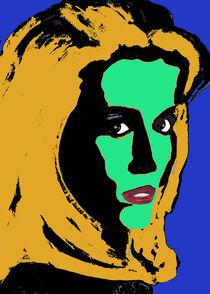 Portrait einer selbstbewussten Frau (popart) by Klaus Engels