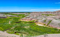 Crooked Creek At The Badlands by John Bailey