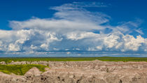 Clouds Over The Badlands by John Bailey