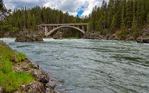 The Mighty Rushing Yellowstone River von John Bailey