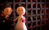 Wedding cake topper by Gema Ibarra