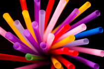 Colorful drinking straws von Gema Ibarra
