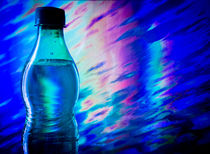 Bottle of water on abstract background by Gema Ibarra