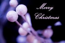 Merry Christmas greeting card von Gema Ibarra