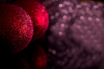 Christmas baubles decoration on defocused lights background  by Gema Ibarra
