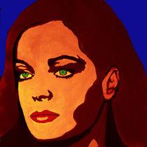 Portrait einer melancholischen Frau von Klaus Engels