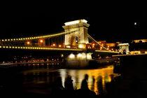 Chain Bridge at night by Tania Lerro