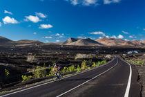 Radfahrer auf Lanzarote von sven-fuchs-fotografie