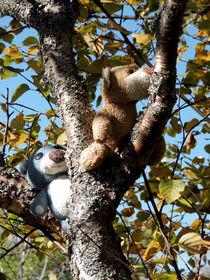 Zwei Bären auf dem Baum von Olga Sander