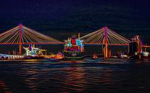 Container Ship Arriving At Savannah von John Bailey