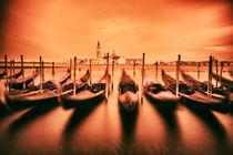 Venice Gondolas von Zoltan Vegh