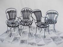Vier Stühle von Dorothy Maurus