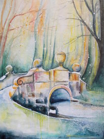 Brücke im Park von Dorothy Maurus