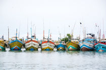 Colorful fishing boats von Christina Rahm