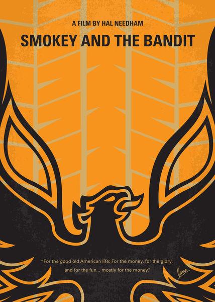 No398-my-smokey-and-the-bandits-minimal-movie-poster