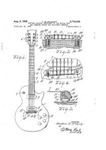 Kunstdruck Gibson Gitarre von Martin Viehmann