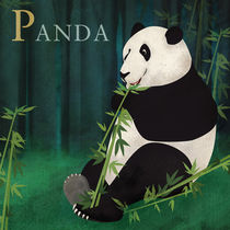 ABC Poster - P Panda Bear by Gaby Jungkeit