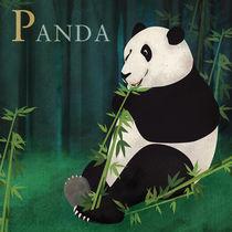 ABC Poster - P Panda Bear von Gaby Jungkeit