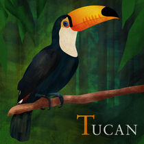 ABC Poster - T Tucan by Gaby Jungkeit